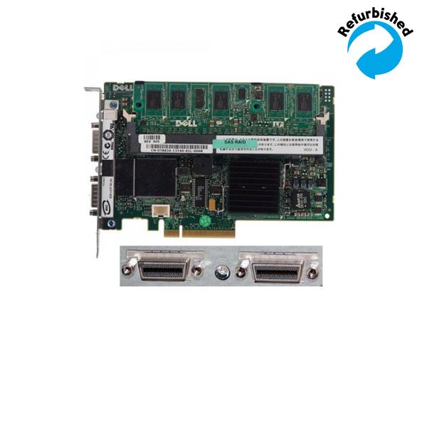 Dell PERC5 SAS RAID PCI-Express Controller Card /w 0KR174 OB 0NM937