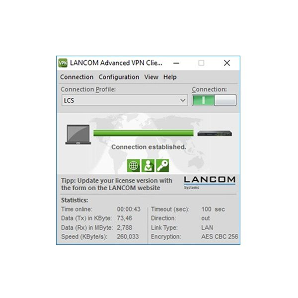LANCOM Upgrade Advanced VPN Client (WIN, Bulk 10)