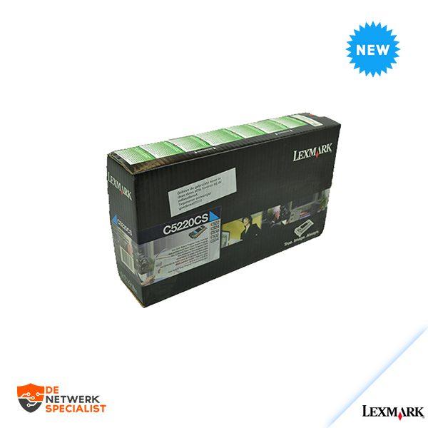 New Lexmark C5220CS toner Cyaan Sealed = C520/C522/C524/C530/C532/C534